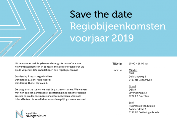 Save the date Regiobijeenkomsten voorjaar 2019 v2